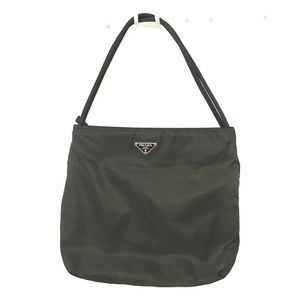 Prada Woman's Olive Nylon Tote Bag